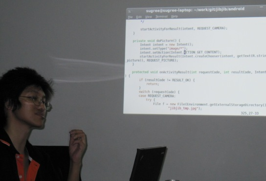 Sugree teaching Android at Bangspace