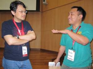 Matz and Paolo Falcone from Friendster Philippines